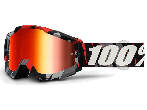 100% Accuri Magemo BMX Briller, Mirror Red Lens