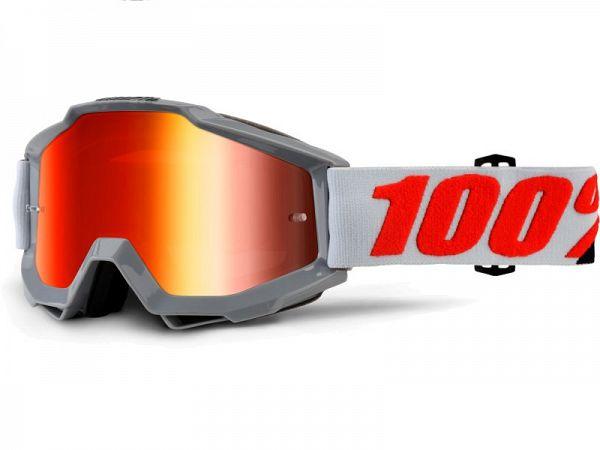 100% Accuri Solberg BMX Briller, Mirror Red Lens