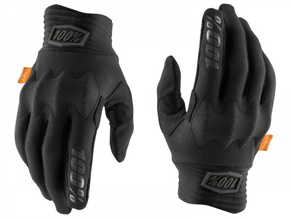 100% Cognito D30 Handsker, Black
