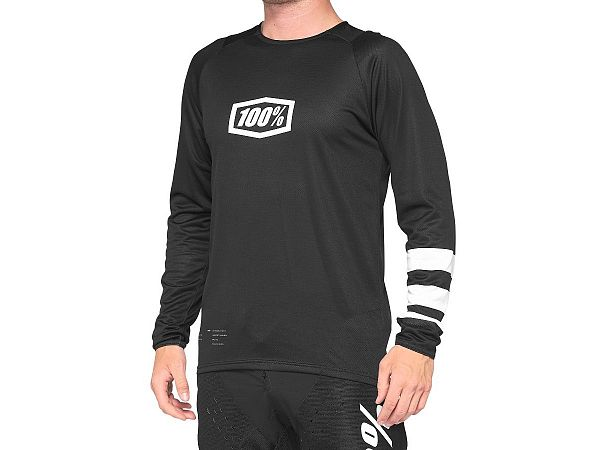 100% R-Core Jersey Cykeltrøje, Black/White