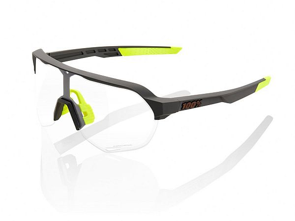 100% S2 Photochromic Solbriller, Soft Tact Cool Grey