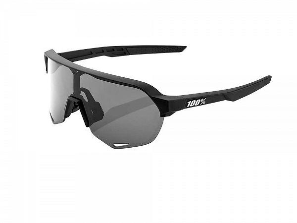 100% S2 Solbriller, Soft Tact Black / Smoke Lens