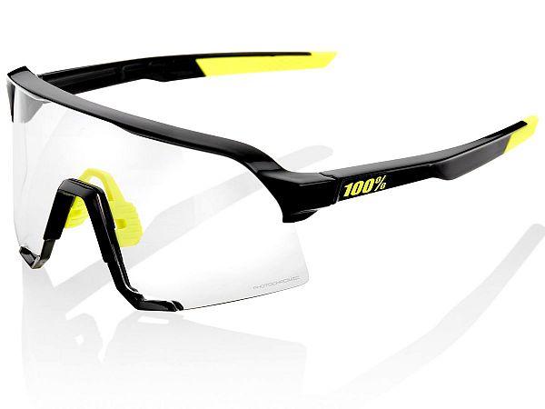 100% S3 Photochromic Solbriller, Gloss Black