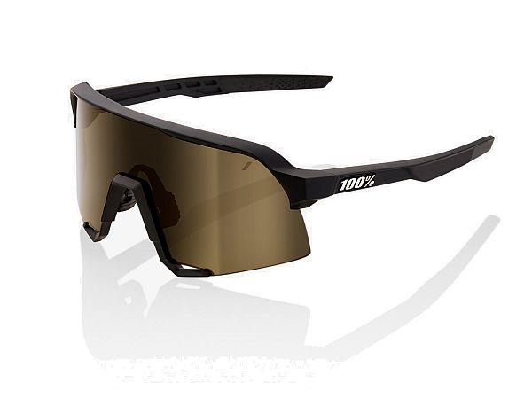 100% S3 Solbriller, Soft Tact Black
