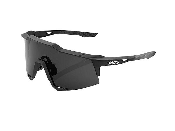 100% SpeedCraft Solbriller, Soft Tact Black / Smoke Lens