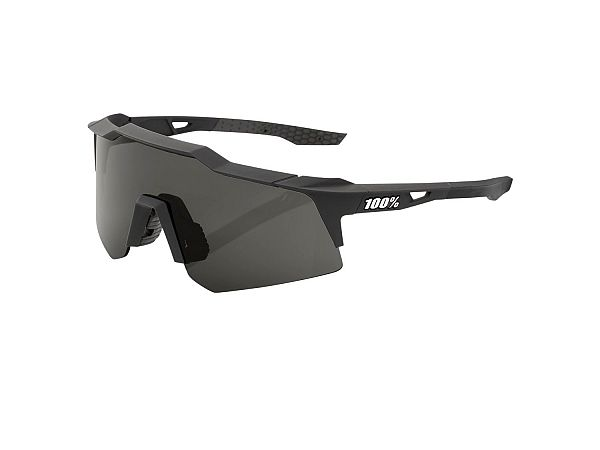 100% SpeedCraft XS Solbriller, Soft Tact Black / Smoke Lens
