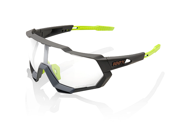 100% Speedtrap Photochromic Solbriller, Soft Tact Cool Grey
