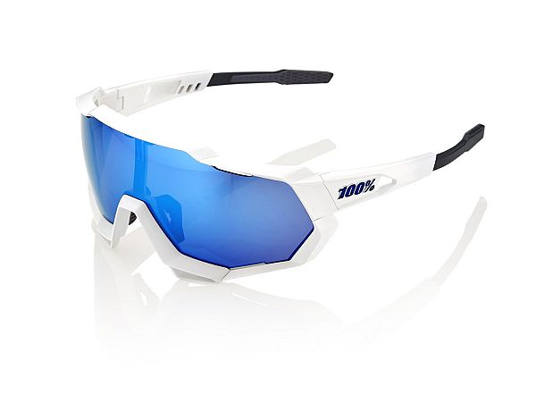 100% Speedtrap Solbriller, Matte White