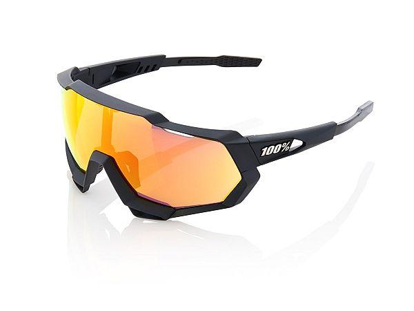 100% Speedtrap Solbriller, Soft Tact Black
