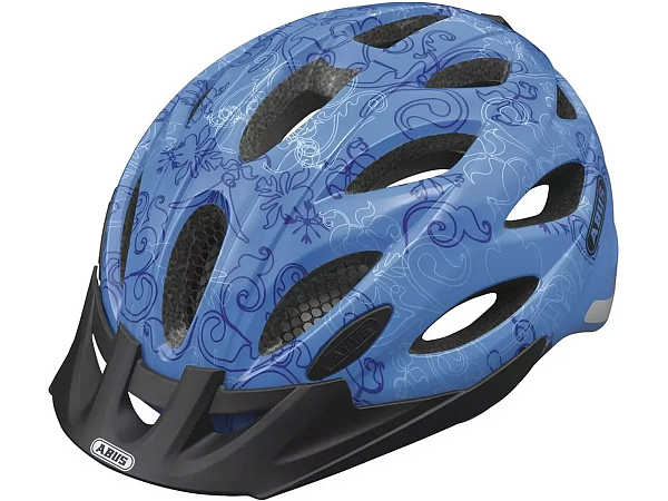 Abus Lane-U Visir Cykelhjelm, Garden Blue, 52-57 cm