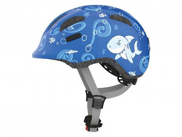 Abus Smiley 2.0 Cykelhjelm, Blue Sharky