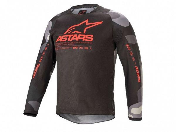 Alpinestars Racer Junior Jersey, Camo/Red