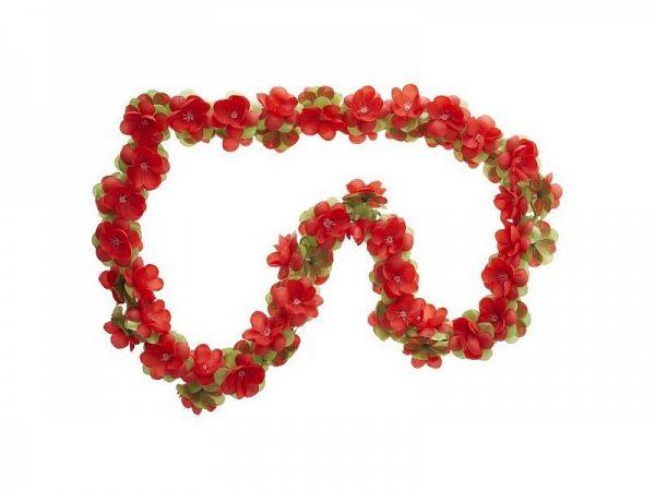 Basil Garland Blomsterkrans, rød