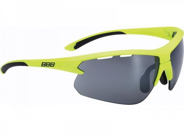 BBB Impulse Matt Neon Yellow Solbriller, 3 Linser