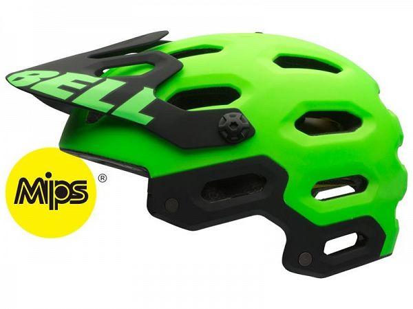 Bell Super 2 Mips Cykelhjelm, Matt Kryptonite Green