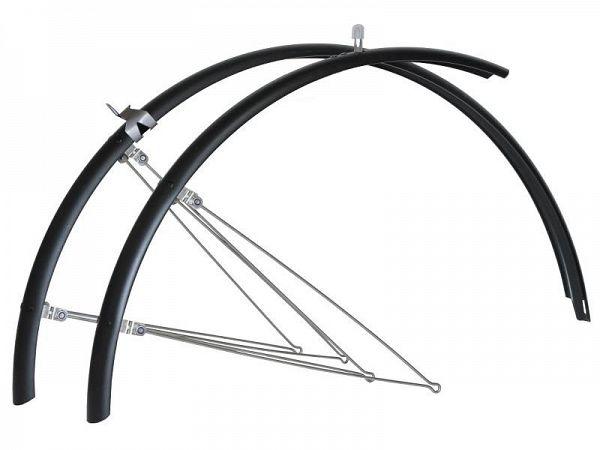 "Bike Attitude 28"" Matsort Skærmsæt, 45mm"