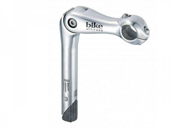 Bike Attitude Justerbar 180mm sølv Styrstamme, 25.4mm x 110mm