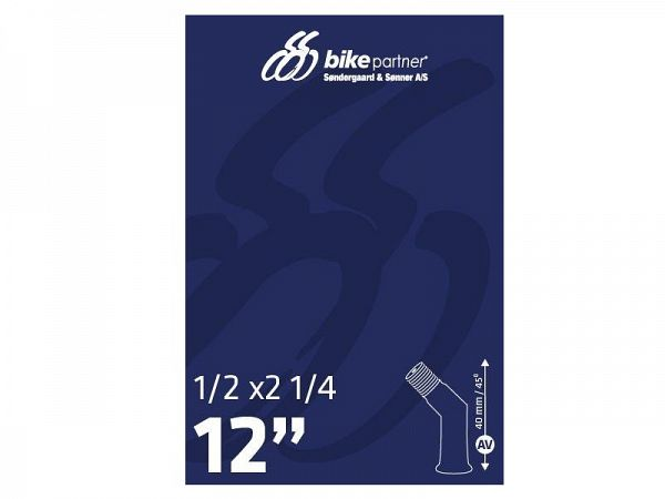 Bike Partner Cykelslange 12 1/2x2 1/4, 45° Auto Ventil