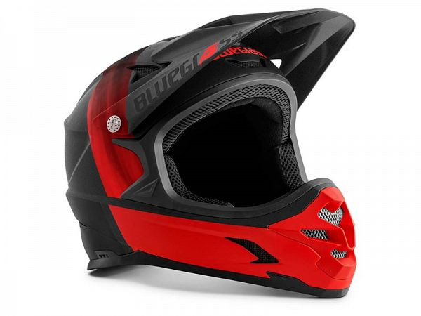 Bluegrass Intox Fullface Hjelm, Black/Red