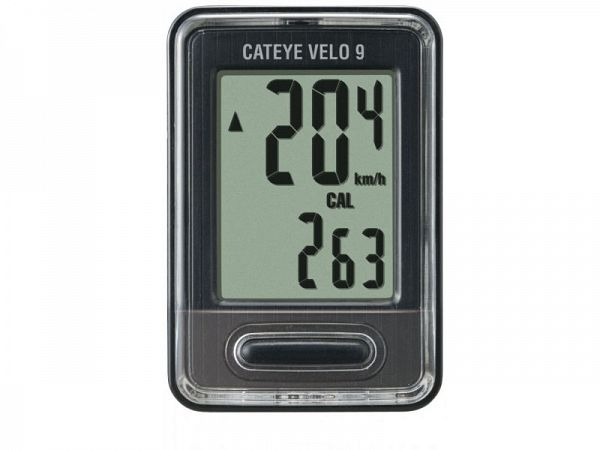 Cateye Velo 9 Black Cykelcomputer