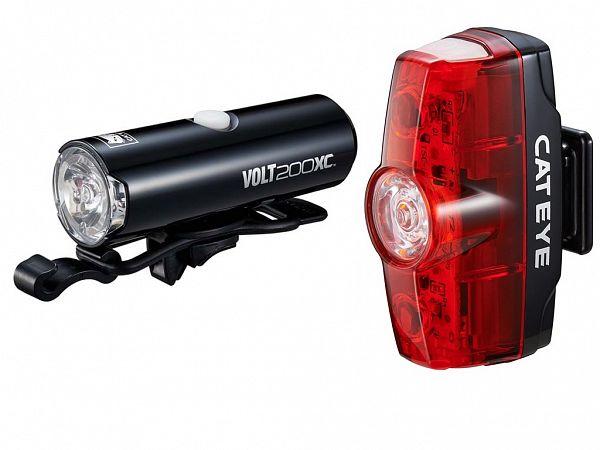 Cateye Volt 200 XC / Rapid Mini Genopladeligt Lygtesæt