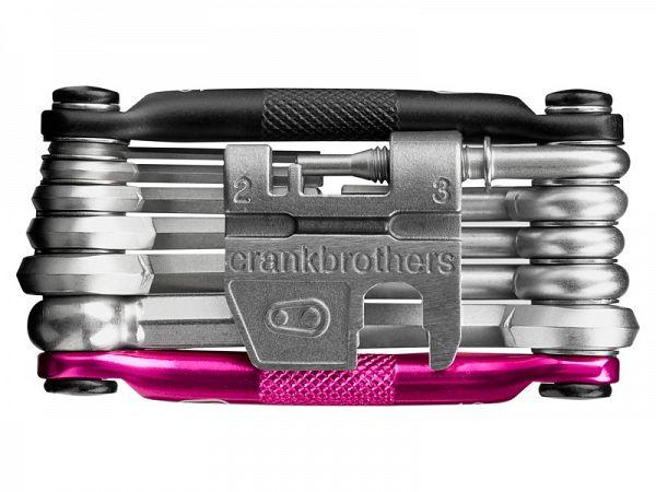 Crankbrothers M17 Magenta Foldeværktøj, 17 Funktioner