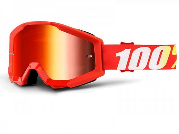Cross brille - 100% Strata Furnace, Mirror Red Lens