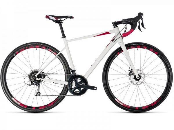 Cube Axial WS Pro Disc hvid - Dame Racercykel - 2018