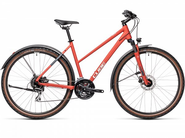 Cube Nature Allroad Red - Damecykel - 2021