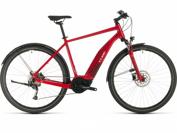 Cube Nature Hybrid ONE 500 Allroad Red - Elcykel - 2020