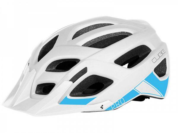 Cube Pro Cykelhjelm, White'n'Blue