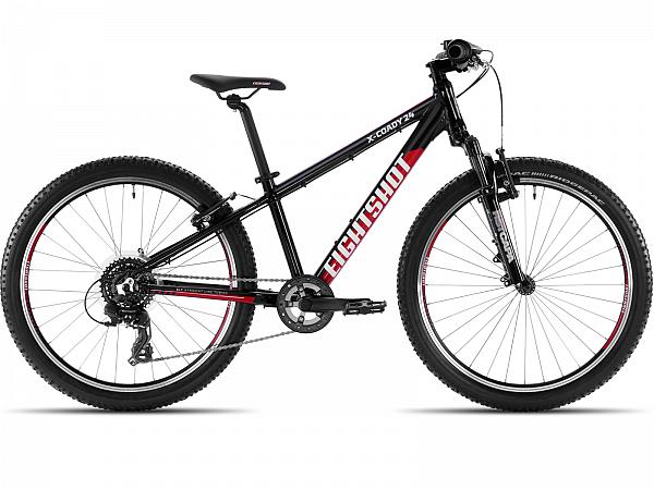 """Eightshot X-Coady FS Black/Red 24"""" - Børnecykel - 2020"""