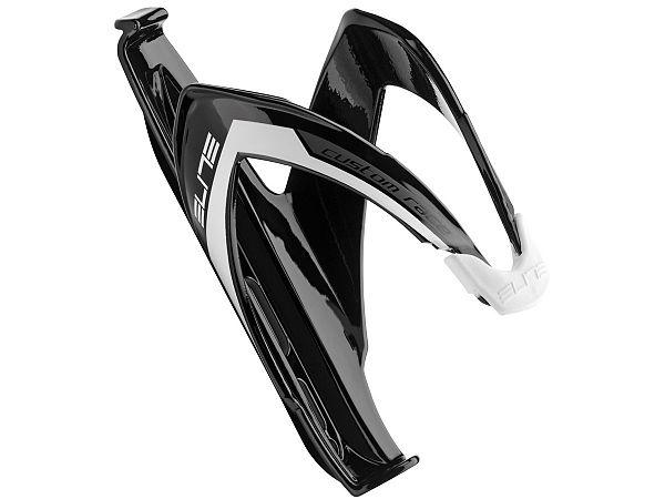 Elite Custom Race Flaskeholder, Glossy Black/White