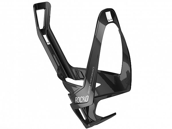 Elite Rocko Carbon Flaskeholder, Glossy Black