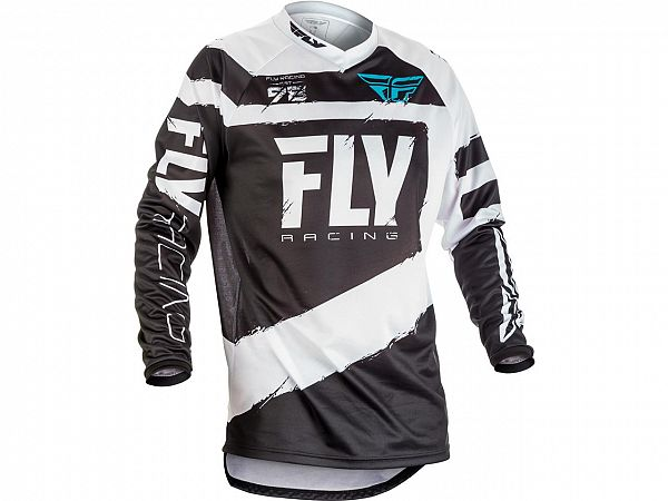 Fly F-16 Jersey Black/White Juniortrøje