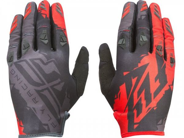 FLY Racing Kinetic BMX/Motocross blk/red Handsker