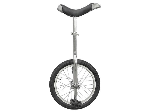 "Fun 16"" Ethjulet Cykel, Silver"