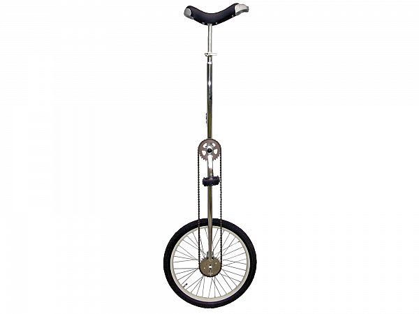"""Fun High 20"""" Ethjulet Cykel, Silver"""