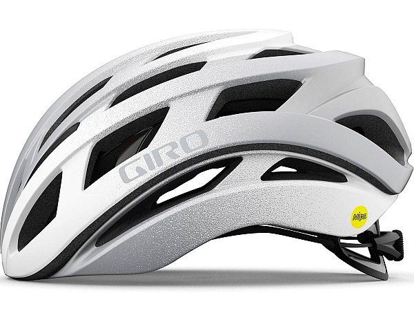 Giro Helios Cykelhjelm, Matt White Silver Fade