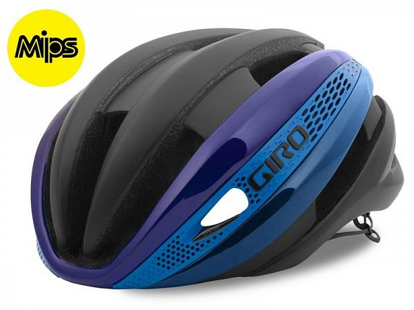 Giro Synthe MIPS Cykelhjelm, Black/Blue/Purple