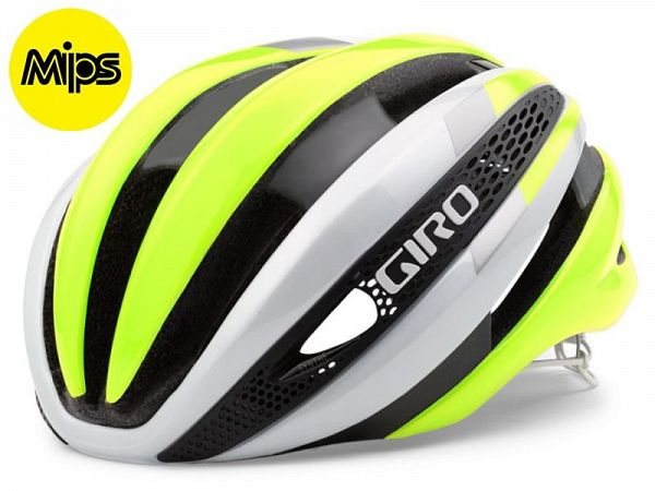 Giro Synthe MIPS Cykelhjelm, White/Yellow