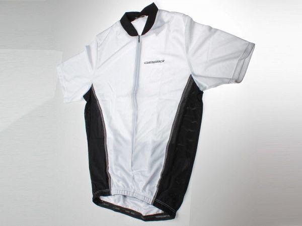 GSG hvid/sort Kortærmet Cykeltrøje