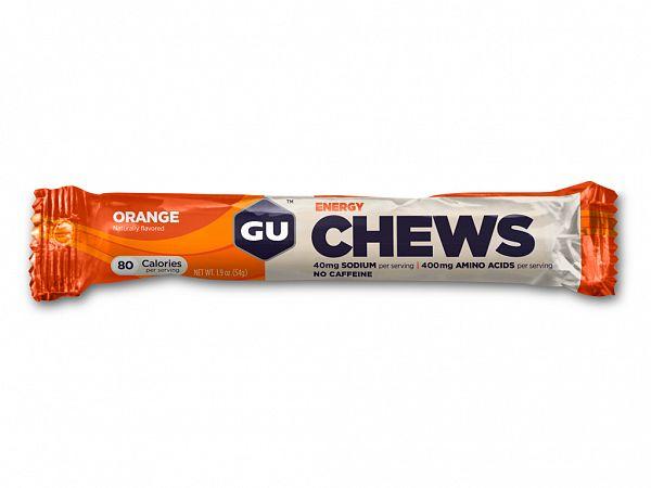 GU Energy Chews Orange Vingummier, 8 Stk