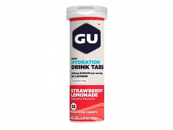 GU Energy Jordbær + Lime Elektrolyttabs, 12 stk