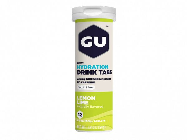 GU Energy Lemon Lime Elektrolyttabs, 12 stk