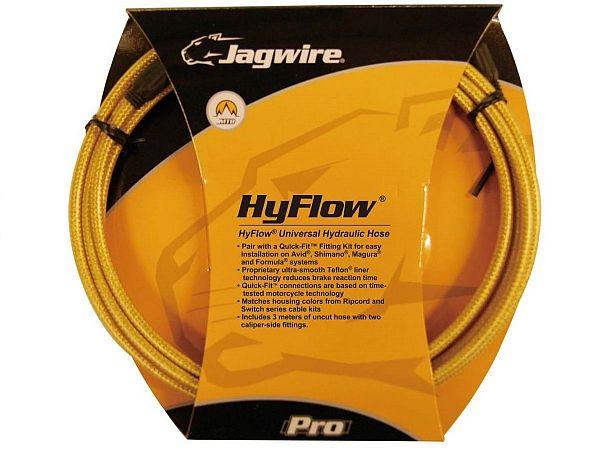 Jagwire HyFlow Hydrauliske Gold Bremseslange, 3000mm