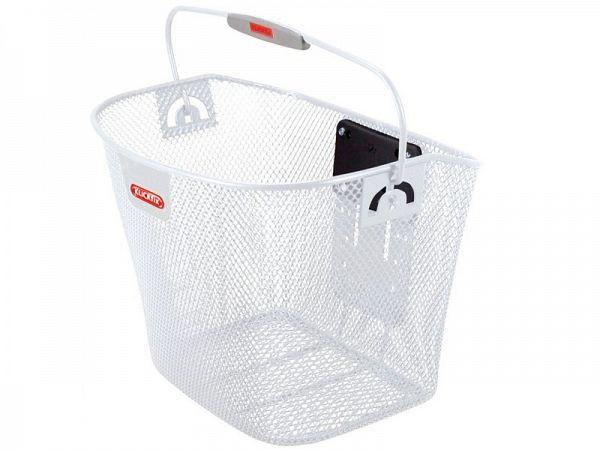 Klickfix Uni White Cykelkurv, 16L