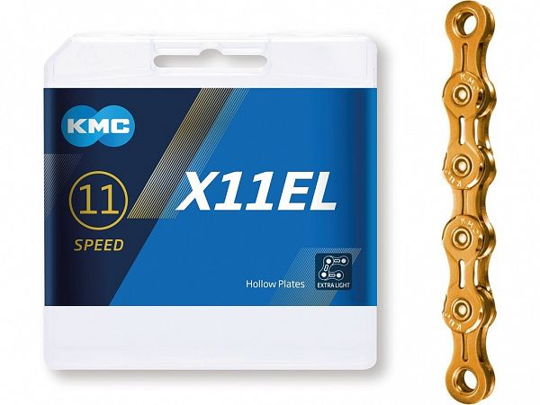 KMC X11EL Gold 11-Speed Kæde, 118 Link