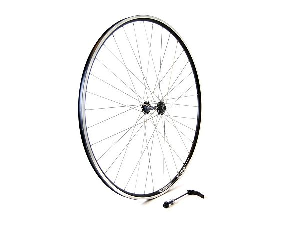Linus Alex Rims QR Forhjul, Black/Silver