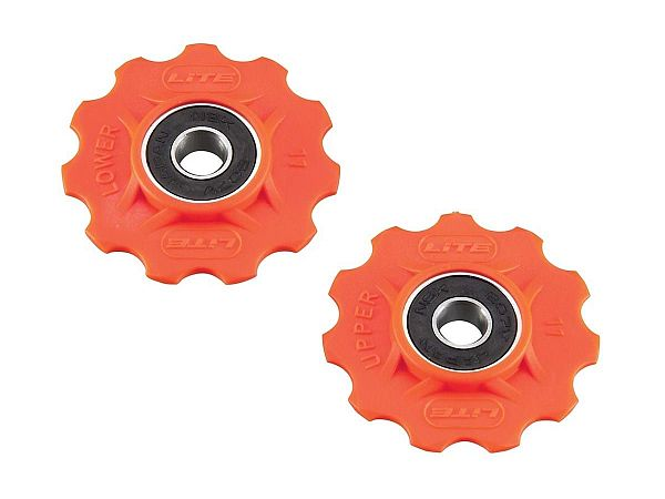 Lite Orange Lukkede Pulleyhjul, 11T